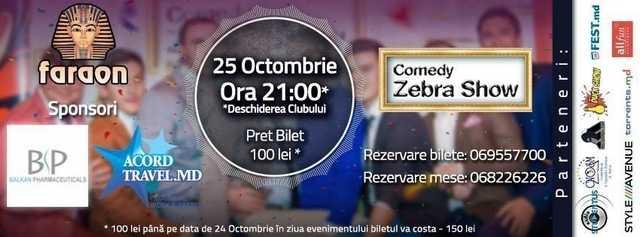 Comedy Zebra Show te invită la un nou eveniment