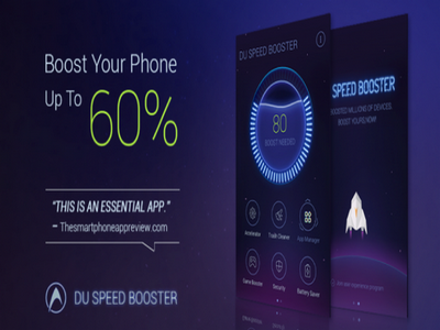 Aplicația DU speed booster
