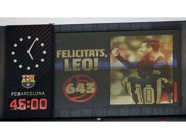 Lionel Messi a egalat recordul lui Pele